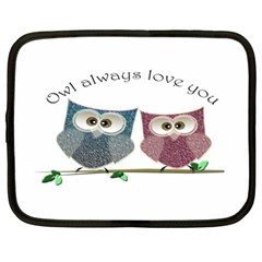 Owl always love you, cute Owls 12  Netbook Case