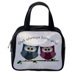Owl always love you, cute Owls Single-sided Satchel Handbag