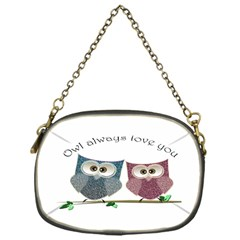 Owl always love you, cute Owls Single-sided Evening Purse
