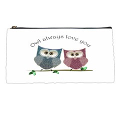 Owl Always Love You, Cute Owls Pencil Case