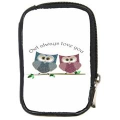 Owl Always Love You, Cute Owls Digital Camera Case