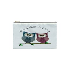 Owl always love you, cute Owls Small Makeup Purse