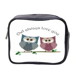 Owl always love you, cute Owls Twin-sided Cosmetic Case
