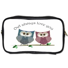 Owl always love you, cute Owls Single-sided Personal Care Bag