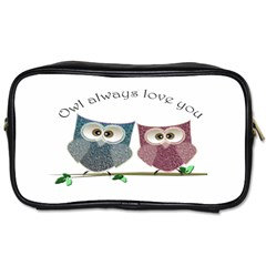 Owl Always Love You, Cute Owls Twin Sided Personal Care Bag