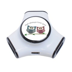 Owl Always Love You, Cute Owls 3 Port Usb Hub