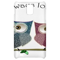 Owl always love you, cute Owls Samsung Infuse 4G Hardshell Case
