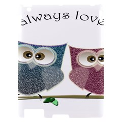 Owl always love you, cute Owls Apple iPad 2 Hardshell Case