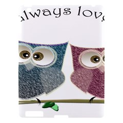 Owl Always Love You, Cute Owls Apple Ipad 3/4 Hardshell Case