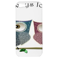 Owl always love you, cute Owls Apple iPhone 5 Hardshell Case