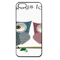 Owl always love you, cute Owls Apple iPhone 5 Seamless Case (Black)