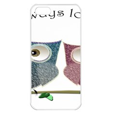 Owl always love you, cute Owls Apple iPhone 5 Seamless Case (White)