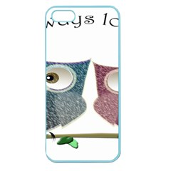 Owl Always Love You, Cute Owls Apple Seamless Iphone 5 Case (color)