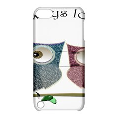 Owl always love you, cute Owls Apple iPod Touch 5 Hardshell Case with Stand