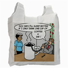 Only One Cup Of Coffee Single Sided Reusable Shopping Bag