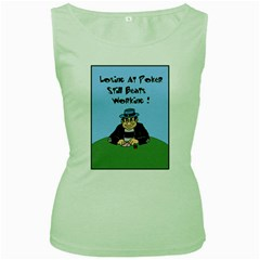 Losing At Poker Women s Green Tank Top