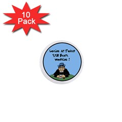 Losing At Poker 1  Mini Button (10 pack)
