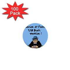 Losing At Poker - Poker Chips 100 Pack Mini Button (Round)