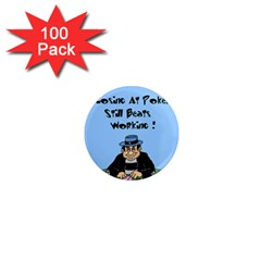 Losing At Poker   Poker Chips 100 Pack Mini Magnet (round)