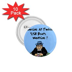Losing At Poker - Poker Chips 10 Pack Small Button (Round)