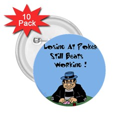 Losing At Poker - Poker Chips 10 Pack Regular Button (Round)