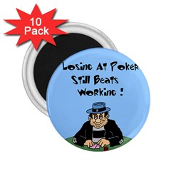 Losing At Poker - Poker Chips 10 Pack Regular Magnet (Round)