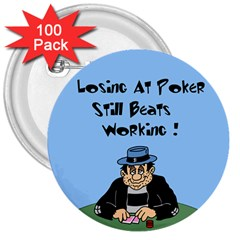 Losing At Poker - Poker Chips 100 Pack Large Button (Round)