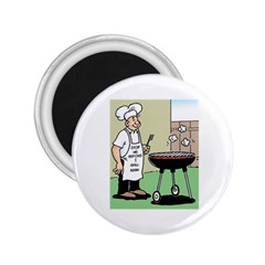 Stop Me Before I Grill Again Regular Magnet (round)