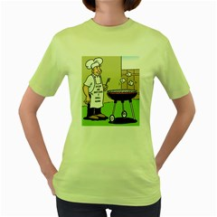 Stop Me Before I Grill Again Green Womens  T-shirt