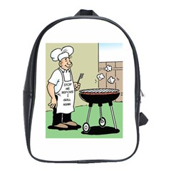 Stop Me Before I Grill Again Large School Backpack