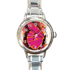 Pink Butter T Copy Classic Elegant Ladies Watch (round)