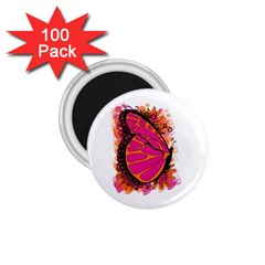Pink Butter T Copy 100 Pack Small Magnet (round)