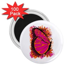 Pink Butter T Copy 100 Pack Regular Magnet (Round)