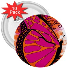 Pink Butter T Copy 10 Pack Large Button (round)