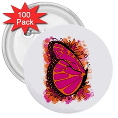 Pink Butter T Copy 100 Pack Large Button (round)