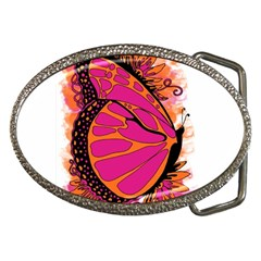 Pink Butter T Copy Belt Buckle (oval)
