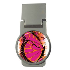 Pink Butter T Copy Money Clip (round)