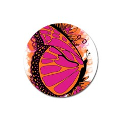 Pink Butter T Copy Large Sticker Magnet (round)