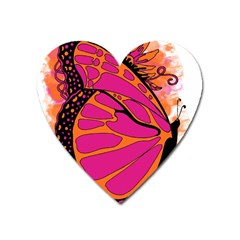 Pink Butter T Copy Large Sticker Magnet (heart)