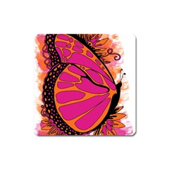 Pink Butter T Copy Large Sticker Magnet (square)