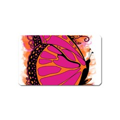 Pink Butter T Copy Name Card Sticker Magnet
