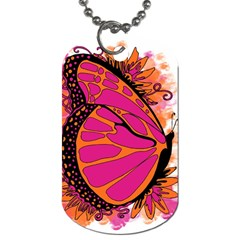 Pink Butter T Copy Single Sided Dog Tag