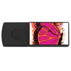 Pink Butter T Copy 2Gb USB Flash Drive (Rectangle)