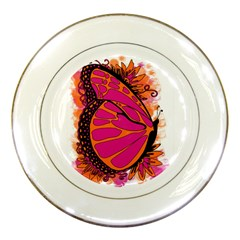 Pink Butter T Copy Porcelain Display Plate