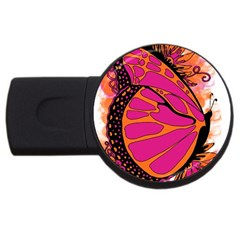 Pink Butter T Copy 4Gb USB Flash Drive (Round)