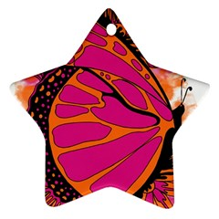 Pink Butter T Copy Twin Sided Ceramic Ornament (star)