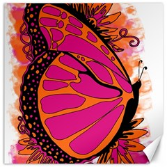 Pink Butter T Copy 16  x 16  Unframed Canvas Print