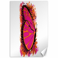 Pink Butter T Copy 20  x 30  Unframed Canvas Print