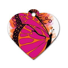 Pink Butter T Copy Twin-sided Dog Tag (Heart)
