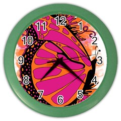 Pink Butter T Copy Colored Wall Clock